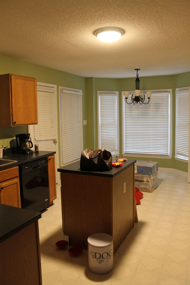 Raleigh NC Interior Designer - White Budget Kitchen Renovation Before and Afters Gray Island Benjamin Moore Classic Gray (9).jpg
