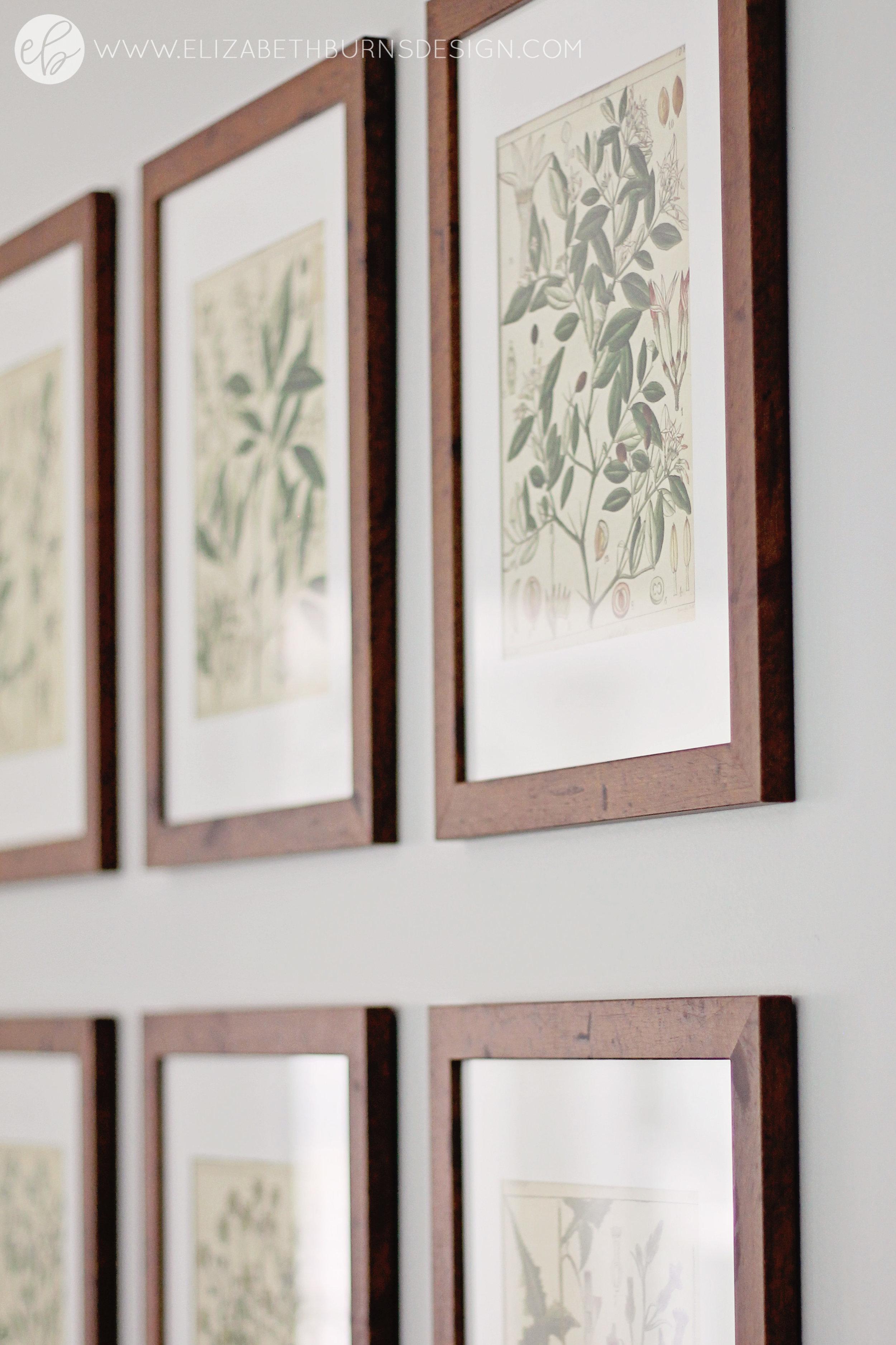 Elizabeth Burns Design - Budget Farmhouse Small Dining Room Sherwin Williams Silver Strand Trestle Table Linen Chairs DIY Wainscoting Dark Walnut Oak Floor (15)