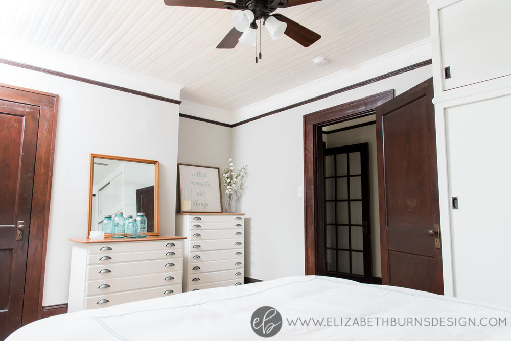 House Flipping Before and Afters - Bedroom Staging Ideas, Wood Trim Paint Colors - Sherwin Williams Repose Gray (4).jpg
