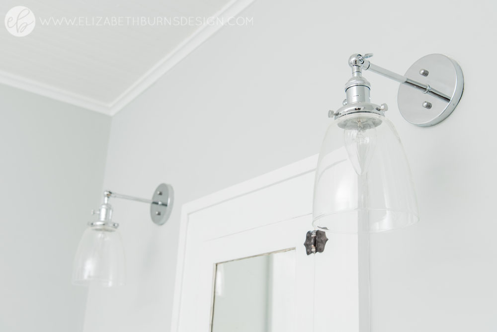 House Flipping Before and Afters - Budget Bathroom Renovation, White Gray and Blue Bath - Sherwin Williams Silver Strand (17).jpg