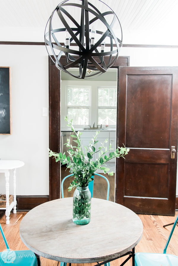 House Flipping Before and Afters - Budget Dining Room Renovation, Wood Trim Paint Colors - Sherwin Williams Repose Gray (1).jpg