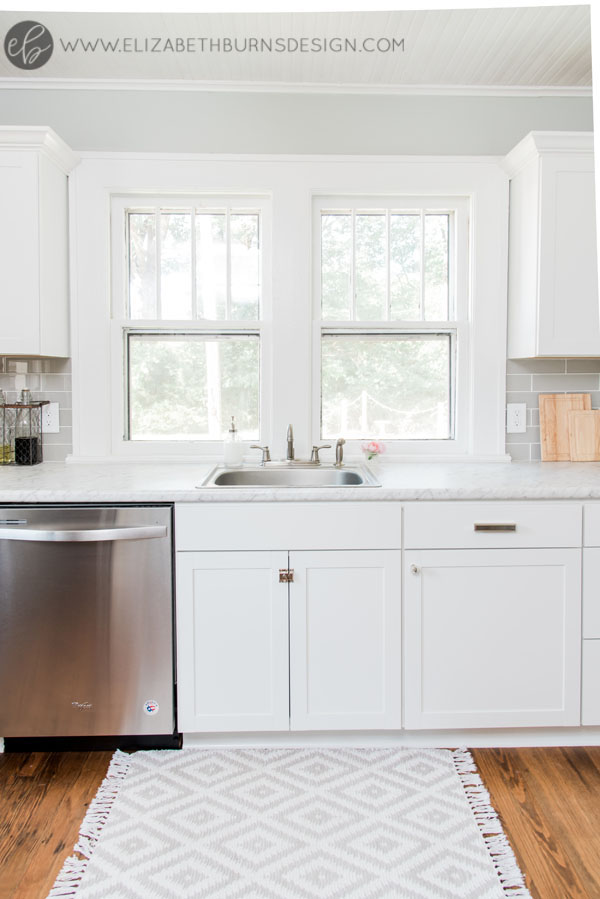 House Flipping Before and Afters - Budget Kitchen Renovation, Cheap Cabinets, Cheap Countertops - Sherwin Williams Silver Strand (8).jpg
