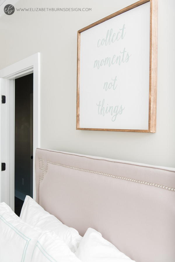Elizabeth Burns Design | Whole House Paint Color Scheme - Sherwin Williams Agreeable Gray Bedroom with Aqua Accents