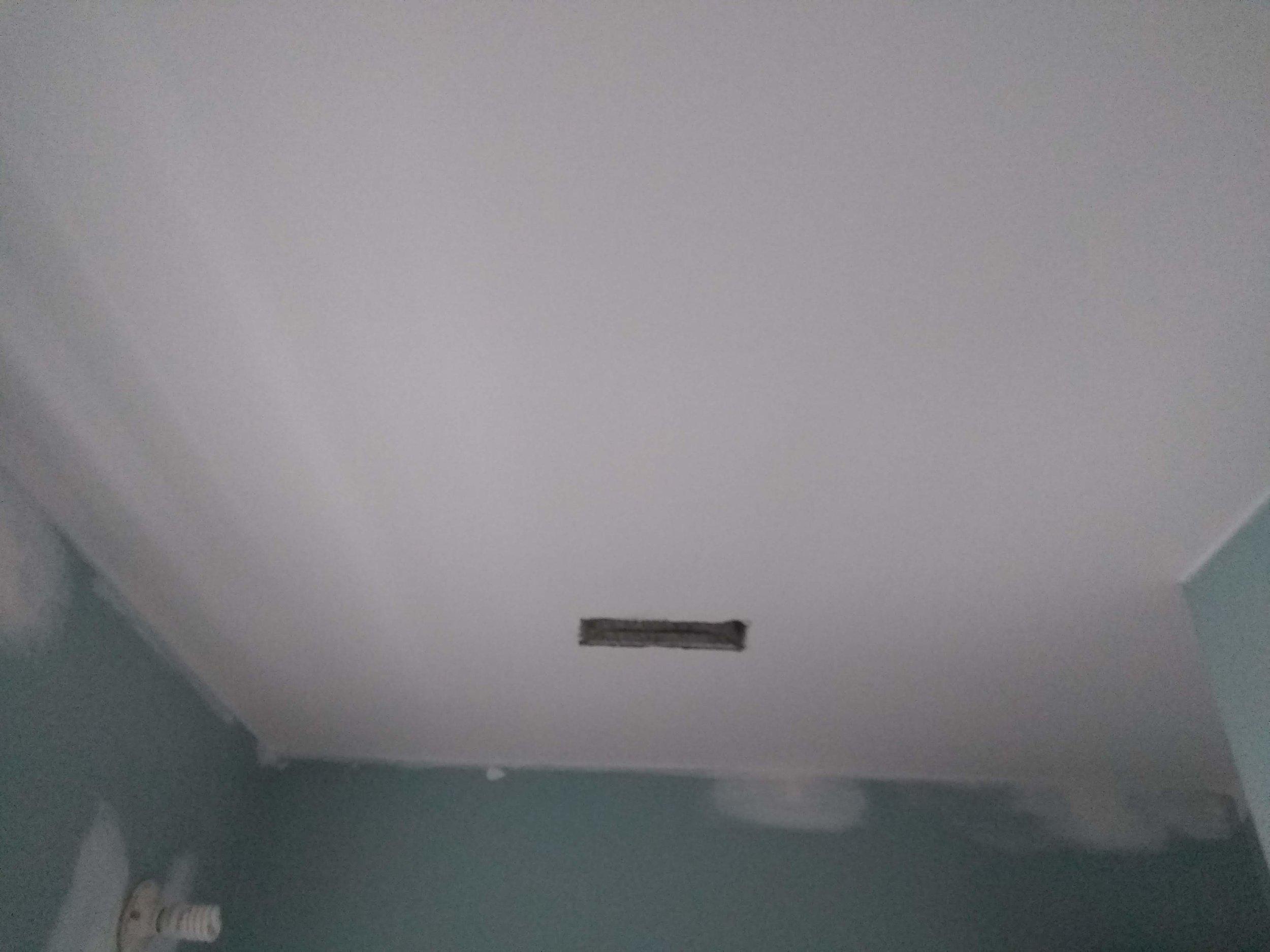 Elizabeth Burns Design | Scraping Popcorn Ceiling 1