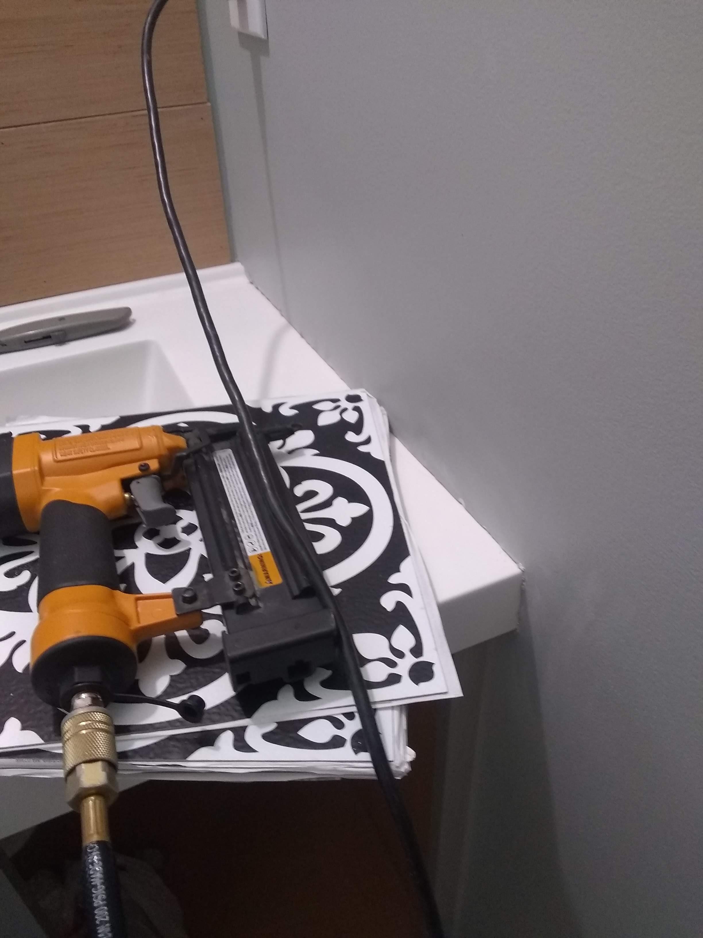 Elizabeth Burns Design | One Room Challenge Guest Bathroom Remodel on a Budget Installing a Cultured Marble Counter