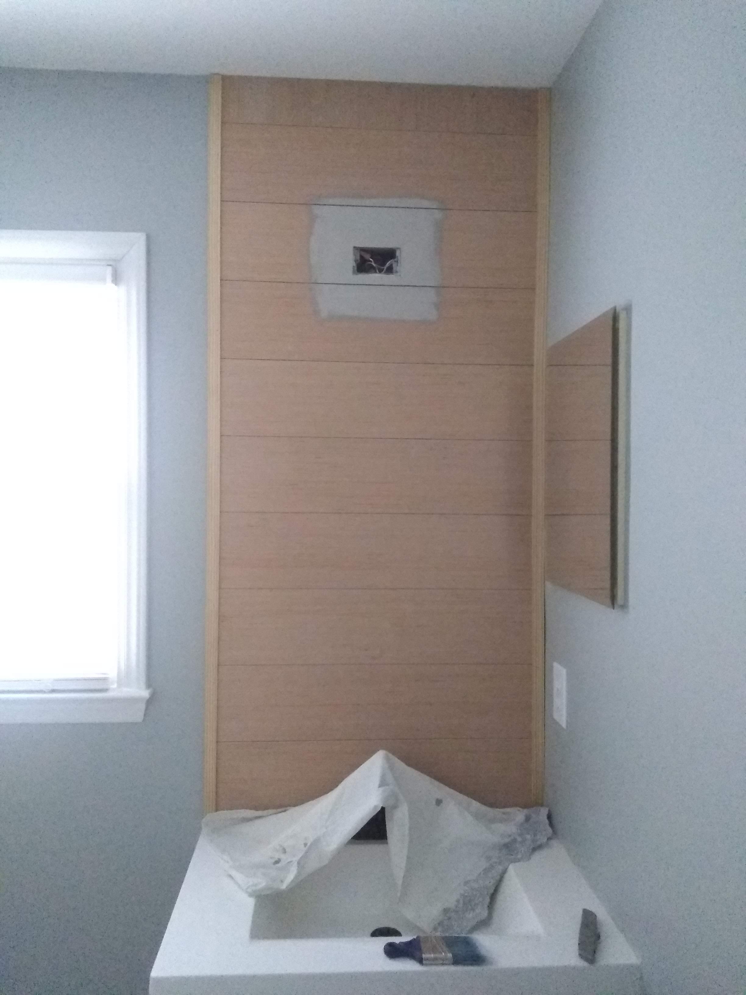 Elizabeth Burns Design | One Room Challenge Guest Bathroom on a Budget - Installing Shiplap 3