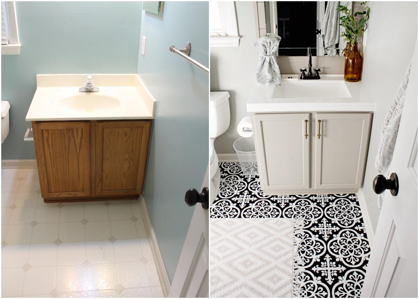 Elizabeth Burns Design - Budget Bathroom Makeover Magnetic Gray Floorpops Peel and Stick Tile Before and Afters (7).jpg