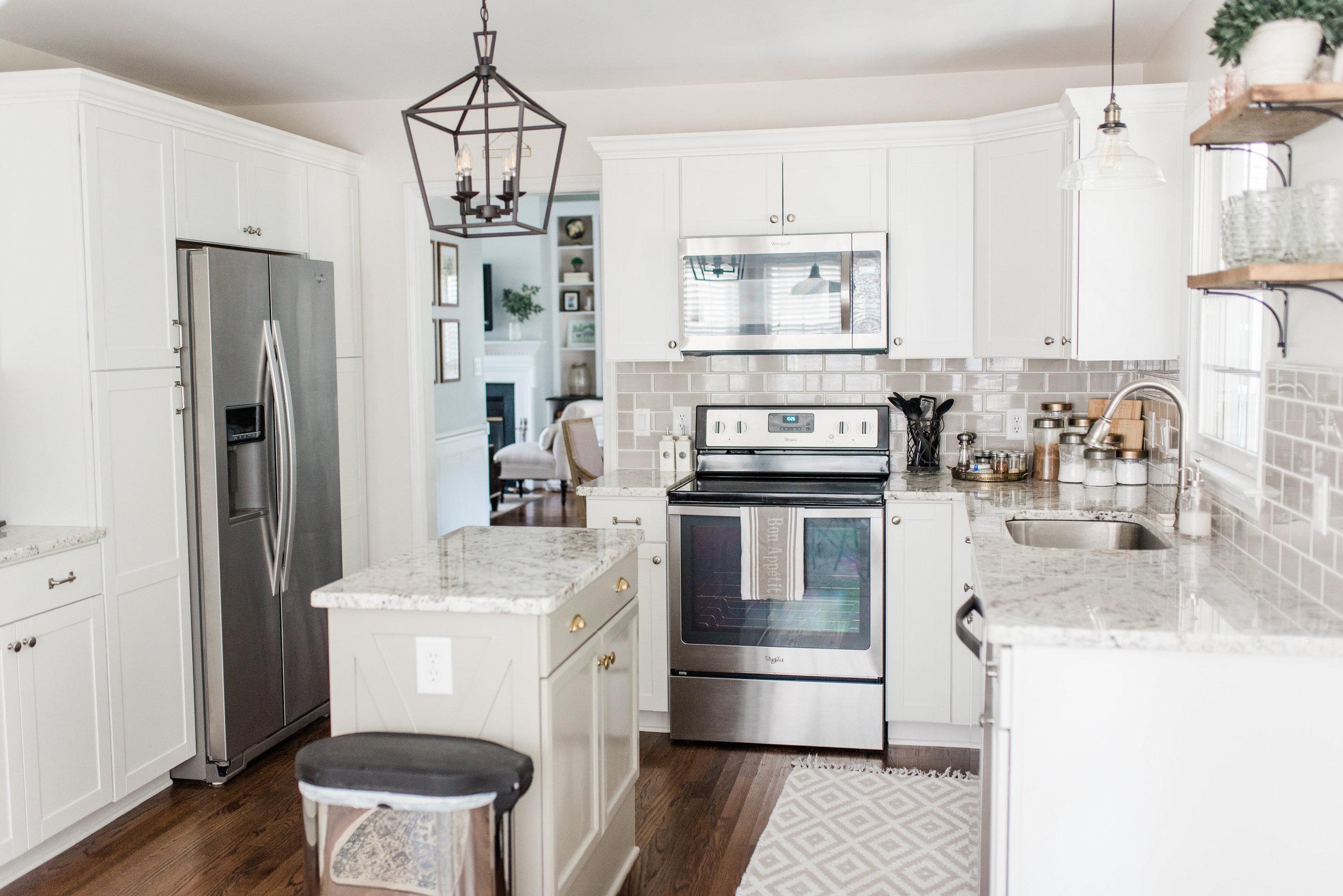 Elizabeth Burns Design | DIY Kitchen Island X Trim - Cheap Cabinet Makeover