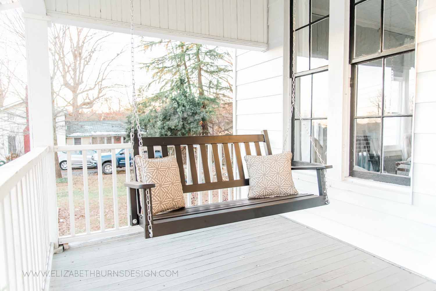 Elizabeth Burns Design Raleigh Interior Designer  Farmhouse Fixer Upper Cottage Renovation, Benjamin Moore Wythe Blue Front Door Front Porch Curb Appeal (5).jpg