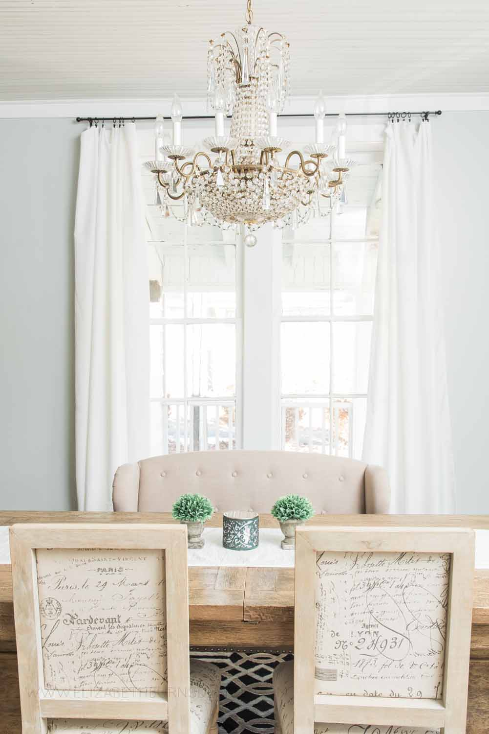 Elizabeth Burns Design Raleigh Interior Designer  Farmhouse Fixer Upper Cottage Renovation, Sherwin Williams Silver Strand SW 7057 Dining Room (3).jpg