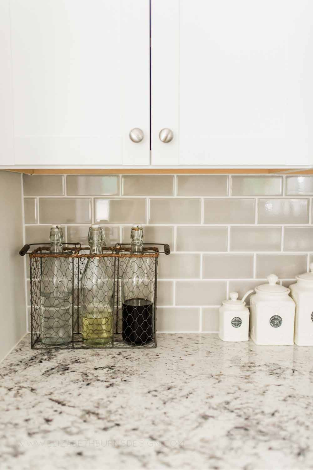 Elizabeth Burns Design Raleigh Interior Designer 1990s house remodel before and after Benjamin Moore Classic Gray 1548 Arcadia White Shaker Cabinets Gray Subway Tile Backsplash (10).jpg