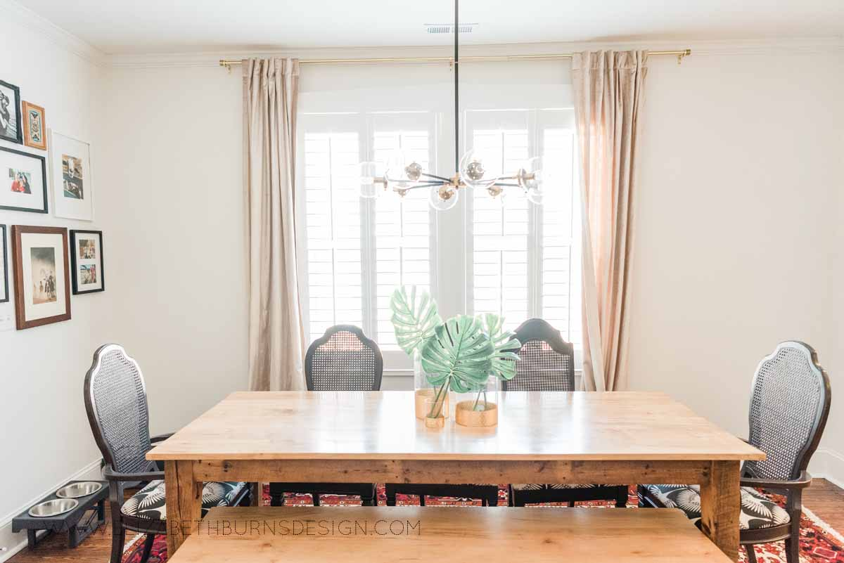 Elizabeth Burns Raleigh Interior Designer Modern Dining Room Reclaimed Wood Table Eclectic Bungalow Old House Pine Floors (4).jpg