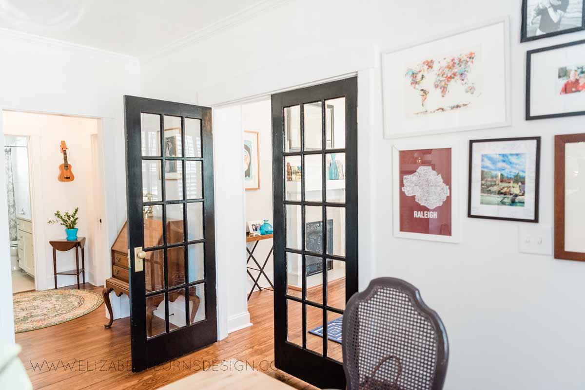 Elizabeth Burns Raleigh Interior Designer Modern Dining Room Reclaimed Wood Table Eclectic Bungalow Old House Pine Floors (9).jpg