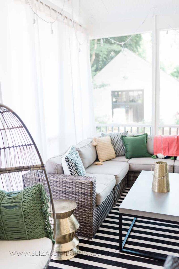 Elizabeth Burns Raleigh Interior Designer Modern Boho Screen Porch Design Tropical Decor (3).jpg