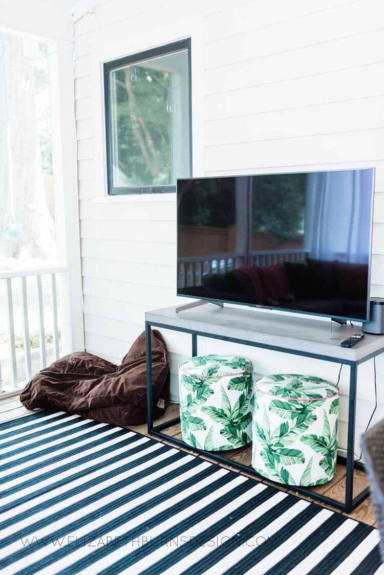 Elizabeth Burns Raleigh Interior Designer Modern Boho Screen Porch Design Tropical Decor (10).jpg
