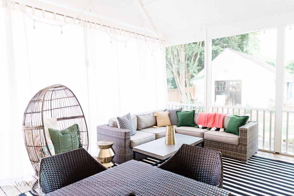 Elizabeth Burns Raleigh Interior Designer Modern Boho Screen Porch Design Tropical Decor (25).jpg