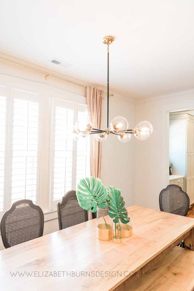 Elizabeth Burns Raleigh Interior Designer Modern Dining Room Reclaimed Wood Table Eclectic Bungalow Old House Pine Floors (1).jpg