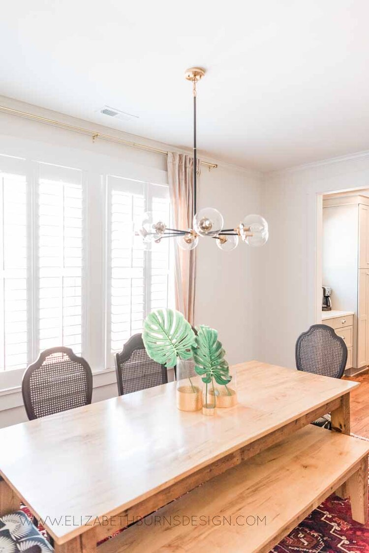Elizabeth Burns Raleigh Interior Designer Modern Dining Room Reclaimed Wood Table Eclectic Bungalow Old House Pine Floors (2).jpg