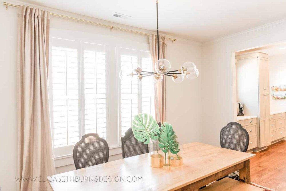 Elizabeth Burns Raleigh Interior Designer Modern Dining Room Reclaimed Wood Table Eclectic Bungalow Old House Pine Floors (3).jpg