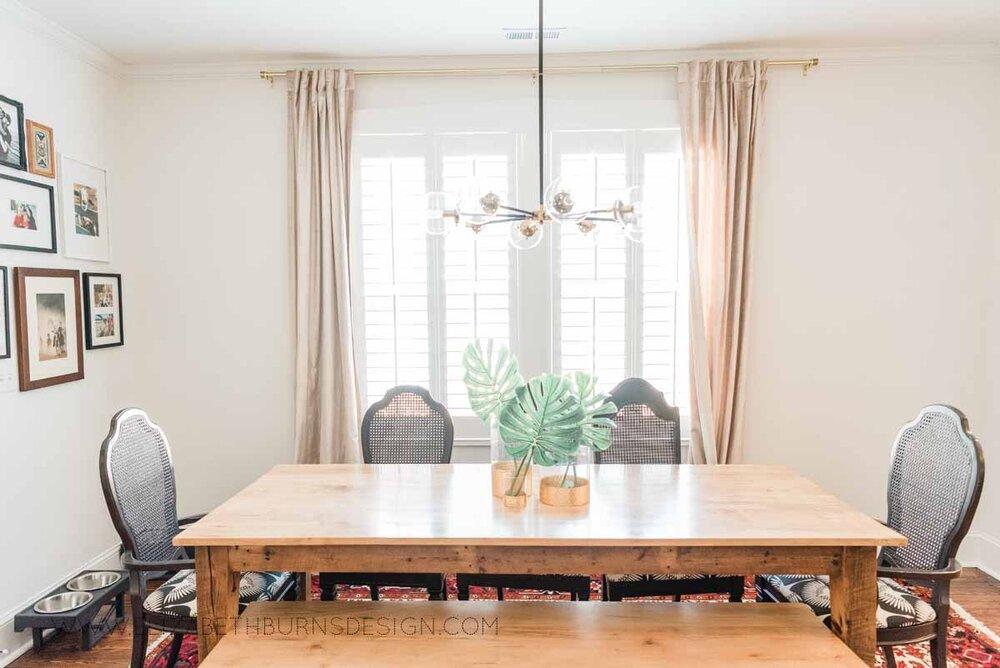 Elizabeth Burns Raleigh Interior Designer Modern Dining Room Reclaimed Wood Table Eclectic Bungalow Old House Pine Floors (4).jpg