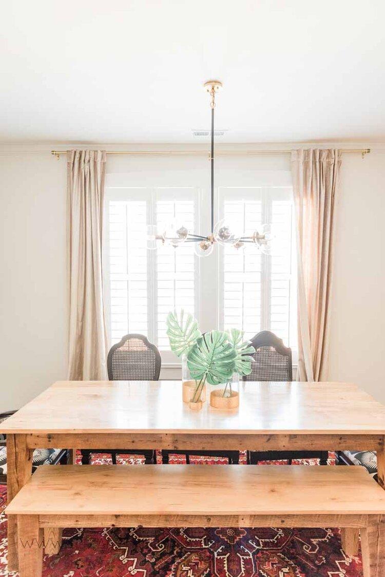 Elizabeth Burns Raleigh Interior Designer Modern Dining Room Reclaimed Wood Table Eclectic Bungalow Old House Pine Floors (5).jpg