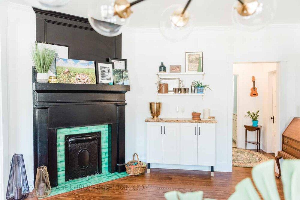 Elizabeth Burns Raleigh Interior Designer Modern Dining Room Reclaimed Wood Table Eclectic Bungalow Old House Pine Floors (8).jpg