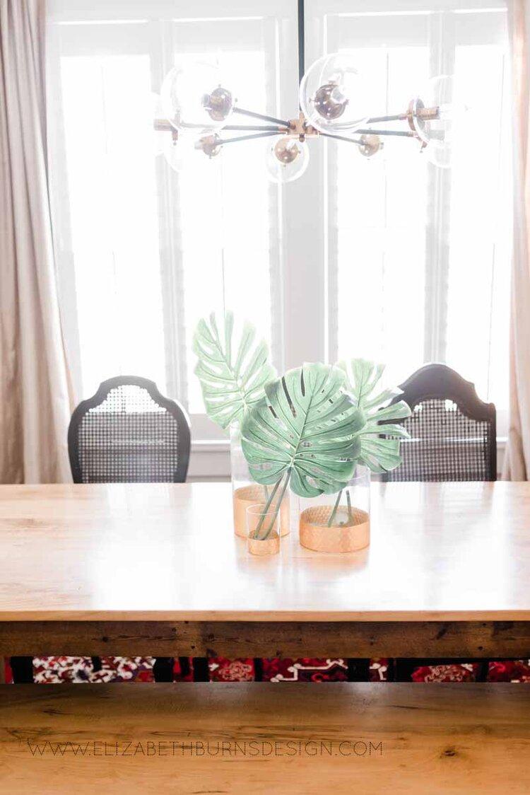 Elizabeth Burns Raleigh Interior Designer Modern Dining Room Reclaimed Wood Table Eclectic Bungalow Old House Pine Floors (35).jpg