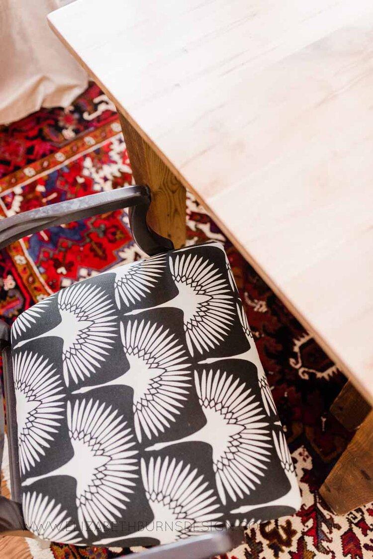 Elizabeth Burns Raleigh Interior Designer Modern Dining Room Reclaimed Wood Table Eclectic Bungalow Old House Pine Floors (40).jpg