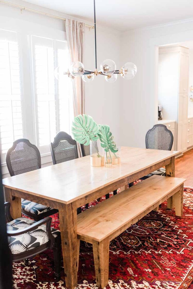 Elizabeth Burns Raleigh Interior Designer Modern Dining Room Reclaimed Wood Table Eclectic Bungalow Old House Pine Floors (42).jpg