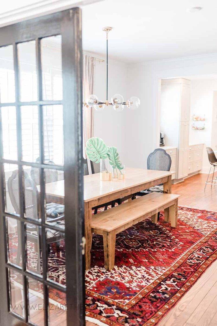 Elizabeth Burns Raleigh Interior Designer Modern Dining Room Reclaimed Wood Table Eclectic Bungalow Old House Pine Floors (43).jpg