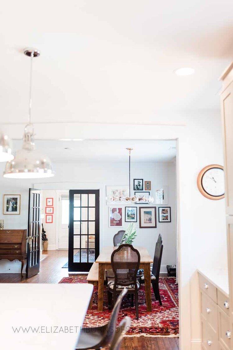 Elizabeth Burns Raleigh Interior Designer Modern Dining Room Reclaimed Wood Table Eclectic Bungalow Old House Pine Floors (44).jpg