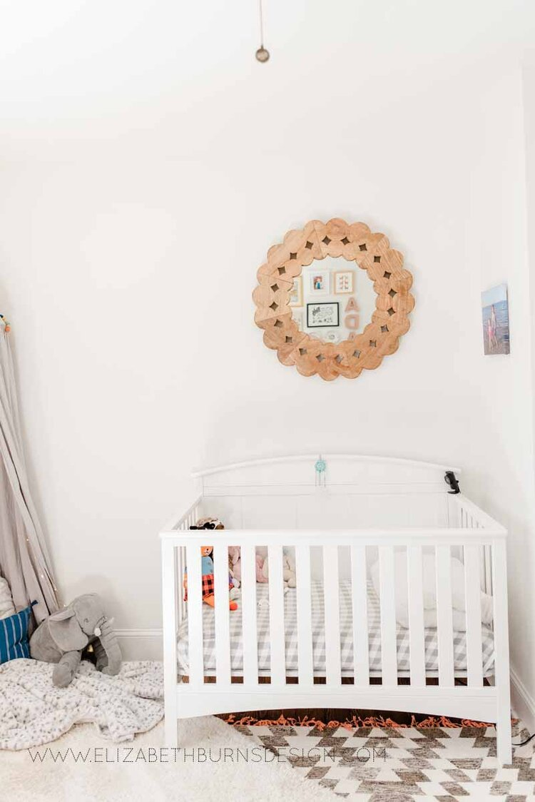 Elizabeth Burns Raleigh Interior Designer Modern Girls Nursery White Walls Eclectic Bungalow Old House Pine Floors (9).jpg