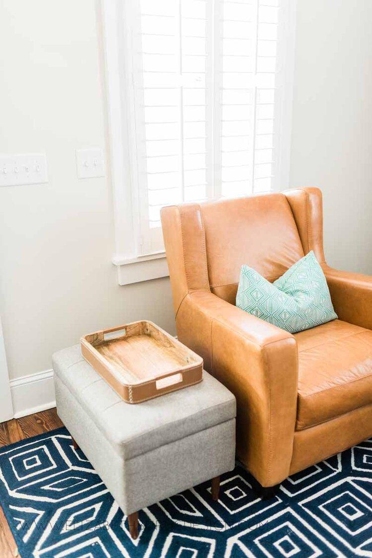 Elizabeth Burns Raleigh Interior Designer Modern Living Room Sputnik Chandelier Built-in Shelves Old House Pine Floors (6).jpg