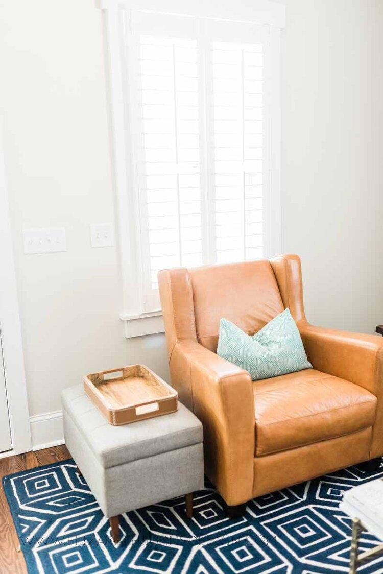 Elizabeth Burns Raleigh Interior Designer Modern Living Room Sputnik Chandelier Built-in Shelves Old House Pine Floors (7).jpg