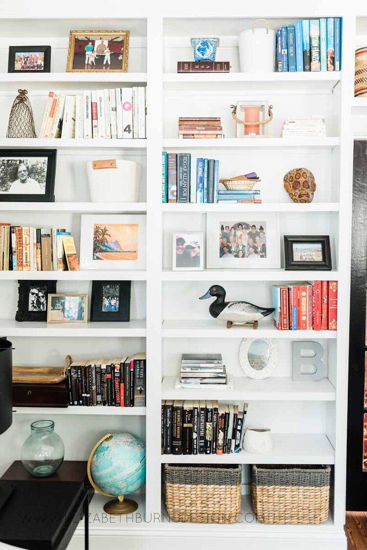 Elizabeth Burns Raleigh Interior Designer Modern Living Room Sputnik Chandelier Built-in Shelves Old House Pine Floors (25).jpg