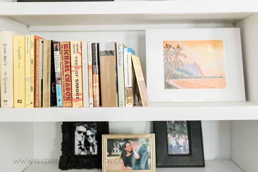 Elizabeth Burns Raleigh Interior Designer Modern Living Room Sputnik Chandelier Built-in Shelves Old House Pine Floors (27).jpg