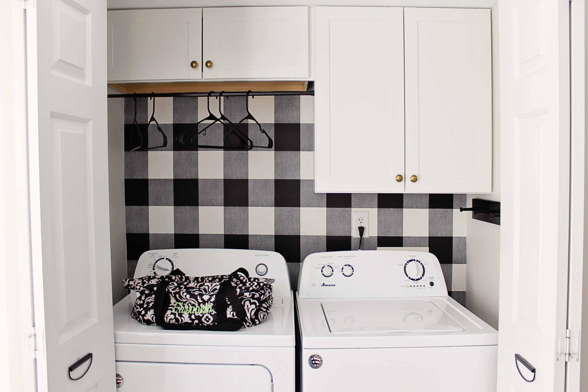DIY Budget Small Laundry Closet Makeover for $20 — Elizabeth ...