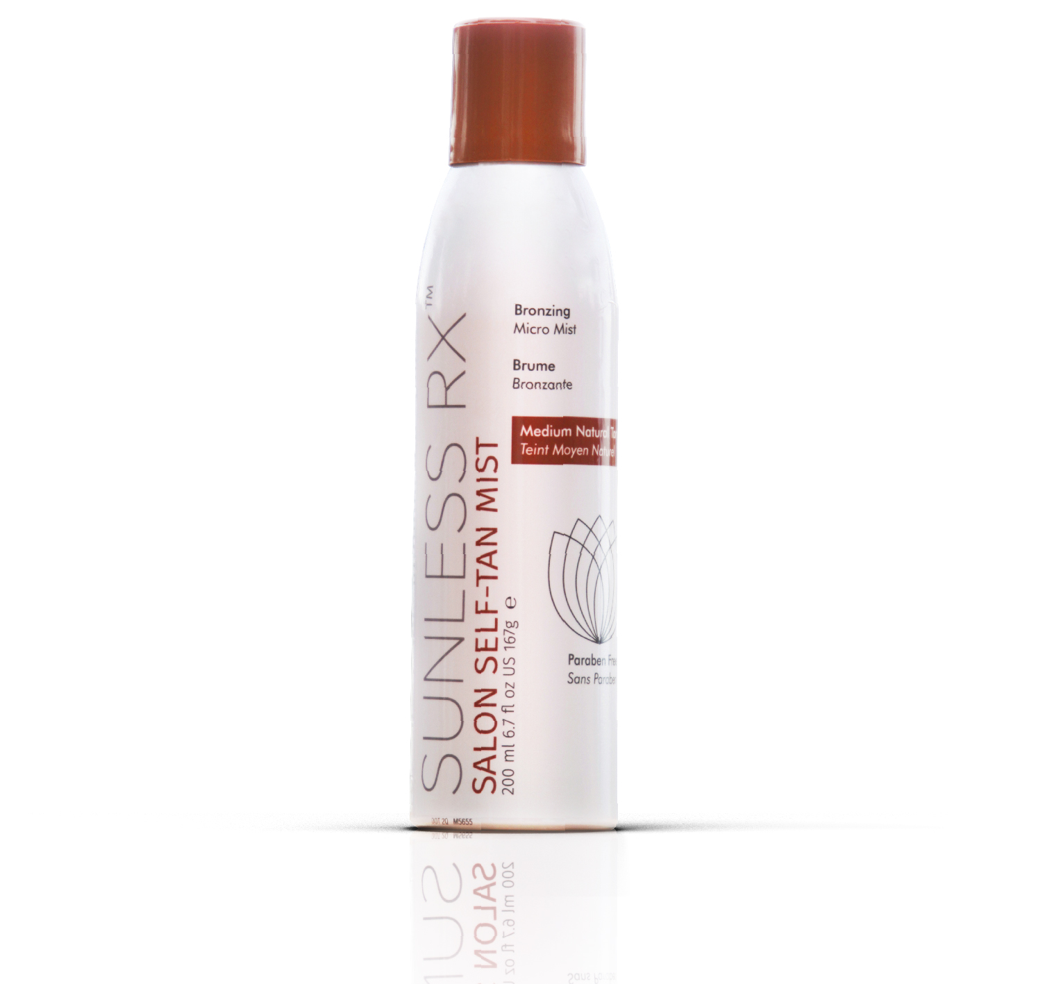 SUNLESS RX SALON SELF-TAN MIST - Our NEW environmentally safe, professional self-tan mist not only creates the perfect bronze glow but does it without use of any dangerous toxic fumes. By using only compressed natural air with safe non cancer-causing chemicals.