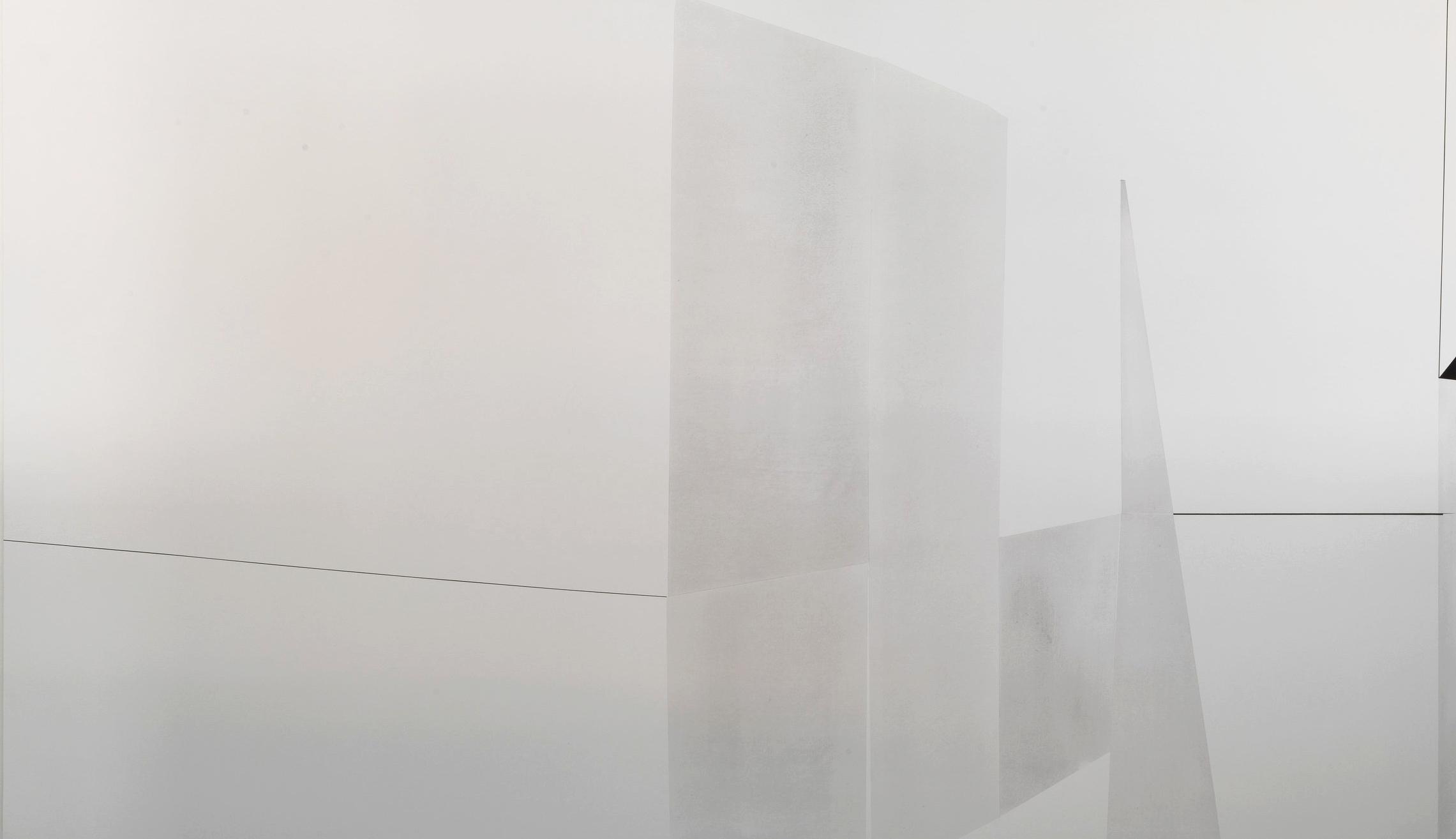 Martina Steckholzer, A Lent II, 2018, pigment on canvas, 140 x 240 cm