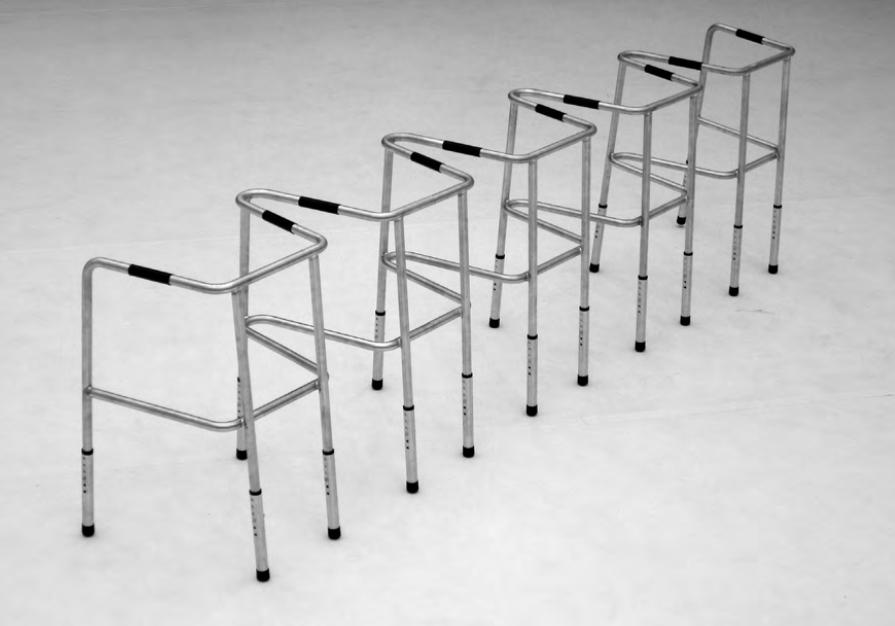 The Great Leap Forward, 300cmx 40cm x 50cm, metal,rubber, 2011