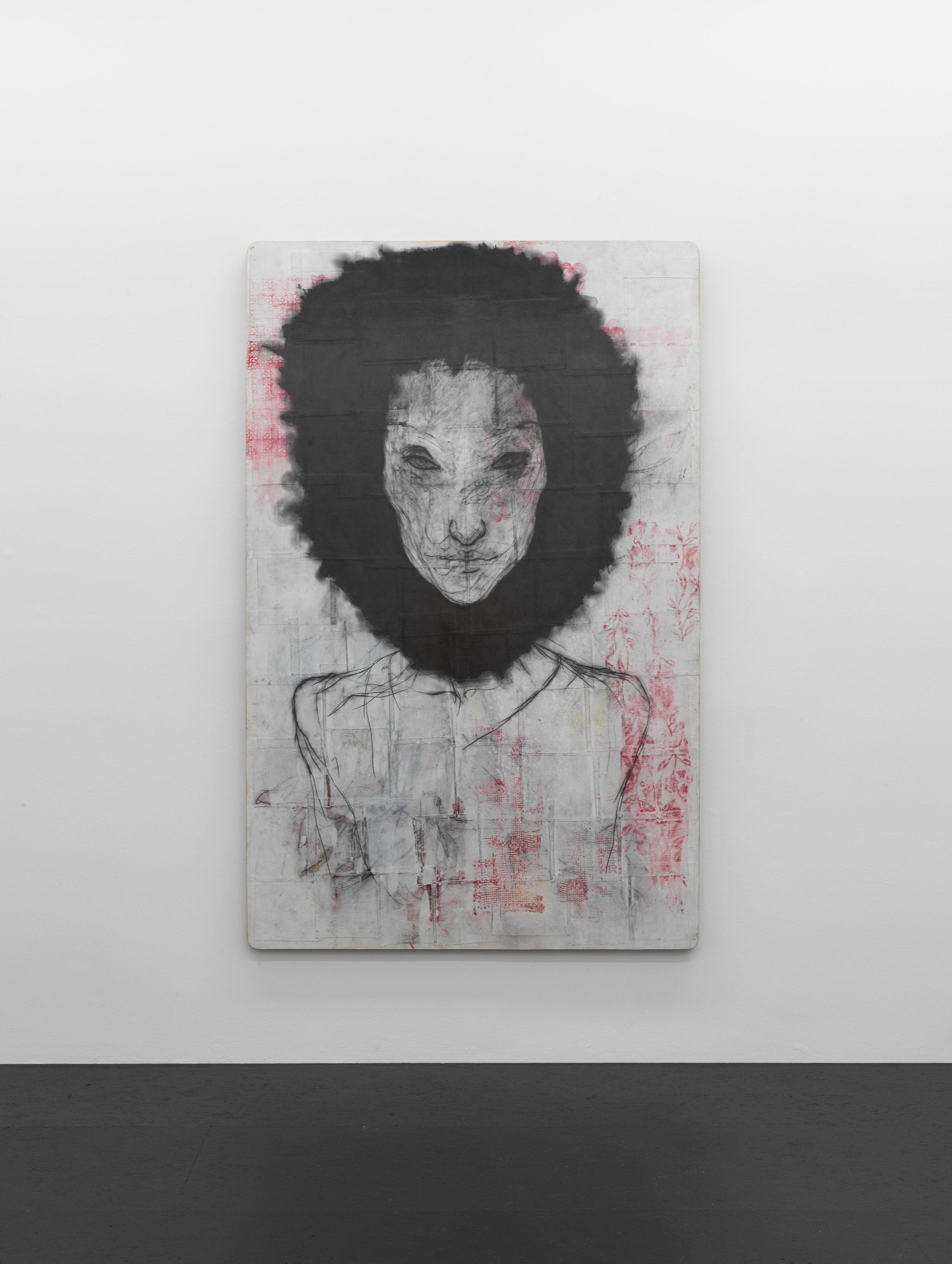 Peter Senoner, Circus Corpus #23, 2019 graphite, oil on purple beechwood, 50x40x3cm