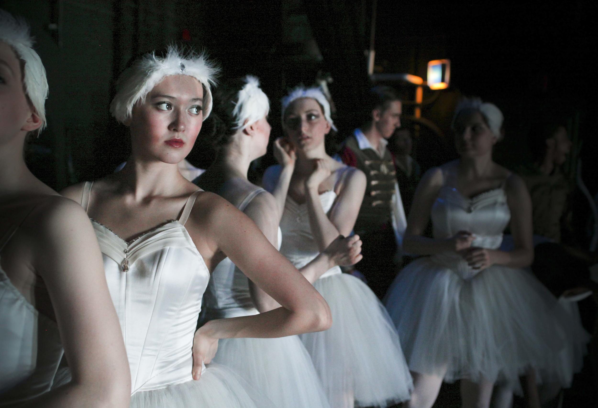 Beautiful Emma Burton captured stage left