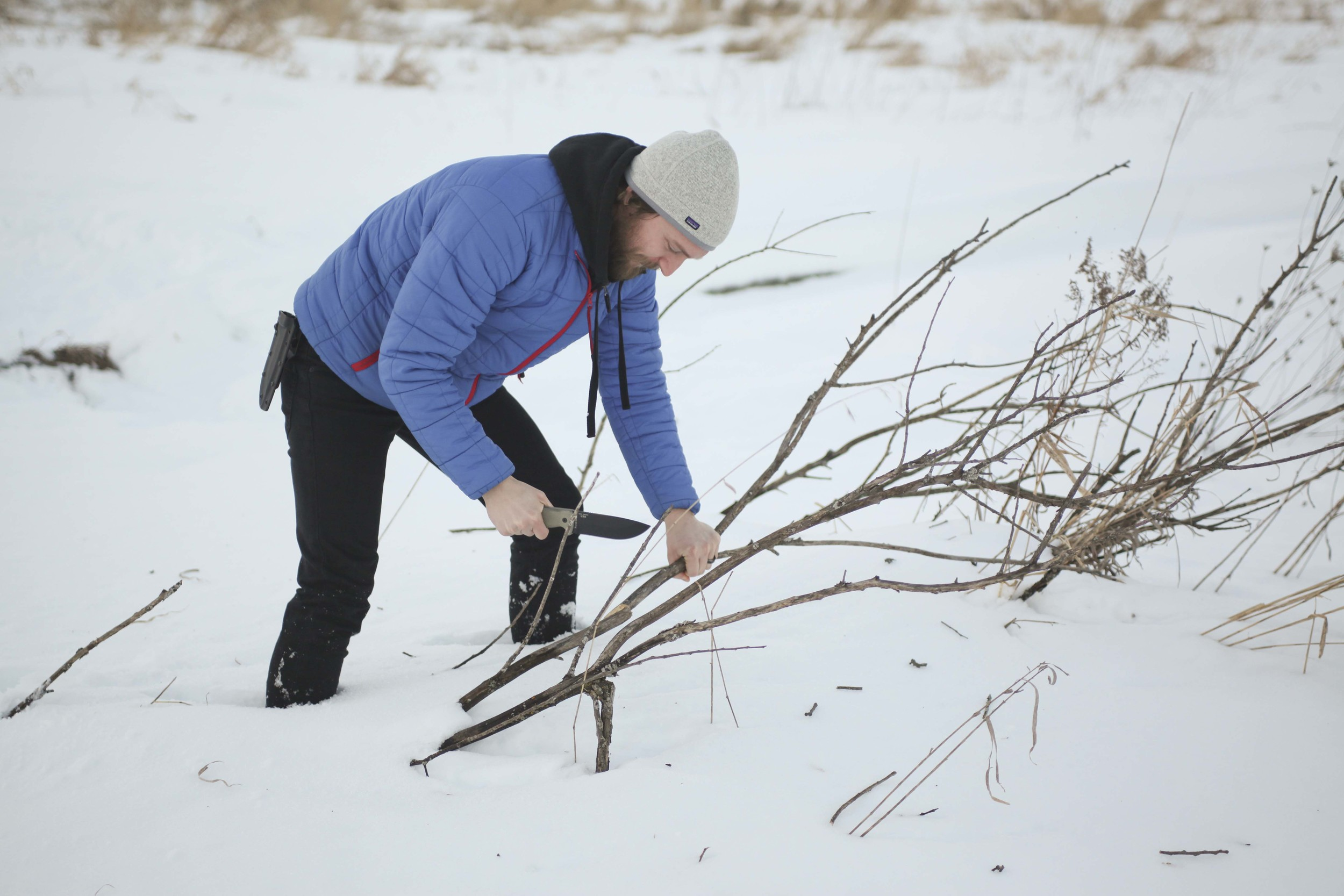 And here is Ryan, chopping kindling.