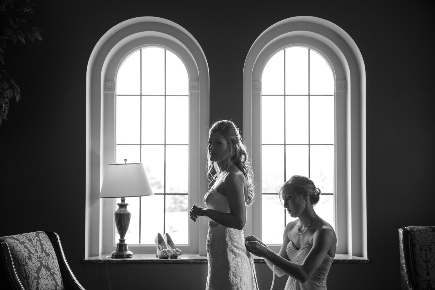 inn at st johns getting ready wedding silhouette photography