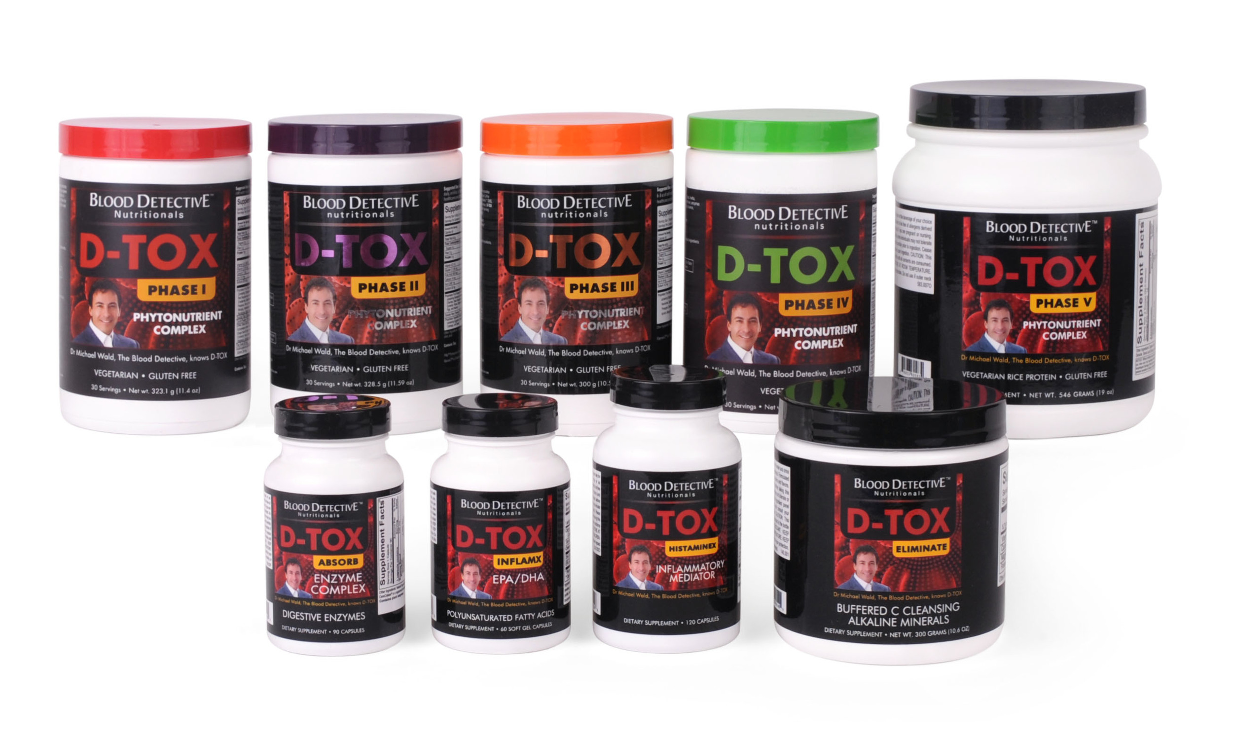 THE DTOX FAMILY - DESIGNED AND CREATED BY DR. MICHAEL WALD, THE BLOOD DETECTIVE
