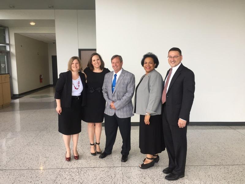 The DRI Team! Left to right: Jennifer Miller, Randi Hewit, Dan Mandell, Andrea Ogunwumi, and James Gensel