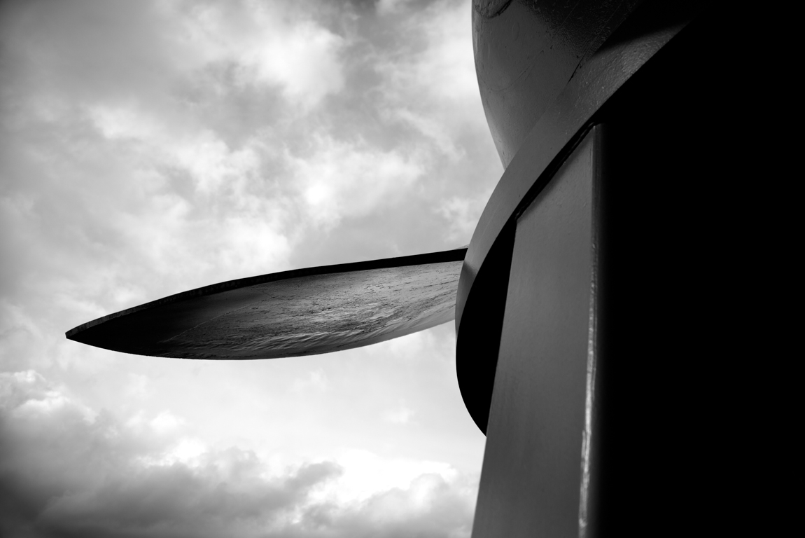 Sister Turbine : one of a series of silver inkjet paper and plexiglass images exploring positive and negative space through an original WPA-era turbine at the Bonneville Dam in Western Oregon.