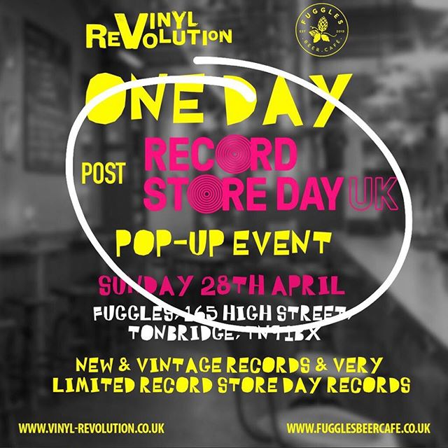 Couple of good looking Sunday's coming up in Tonbridge - we've got @vinylrevolutionuk back for post @recordstoreday popup on the 28th (as in THIS Sunday folks) 🎶🍻🎶 Then a week later on May 5th we've got the Ice Cold Daydream DJ's back again for another All Dayer with the best in funk, soul and jazz! 🕺🏽🎶🍺 . . . #fugglesbeercafe #tonbridge #events #beerandmusic #vinyl #recordstoreday #vintage #collector #soul #northernsoul #funk #rsd #craftbeer #music #dj