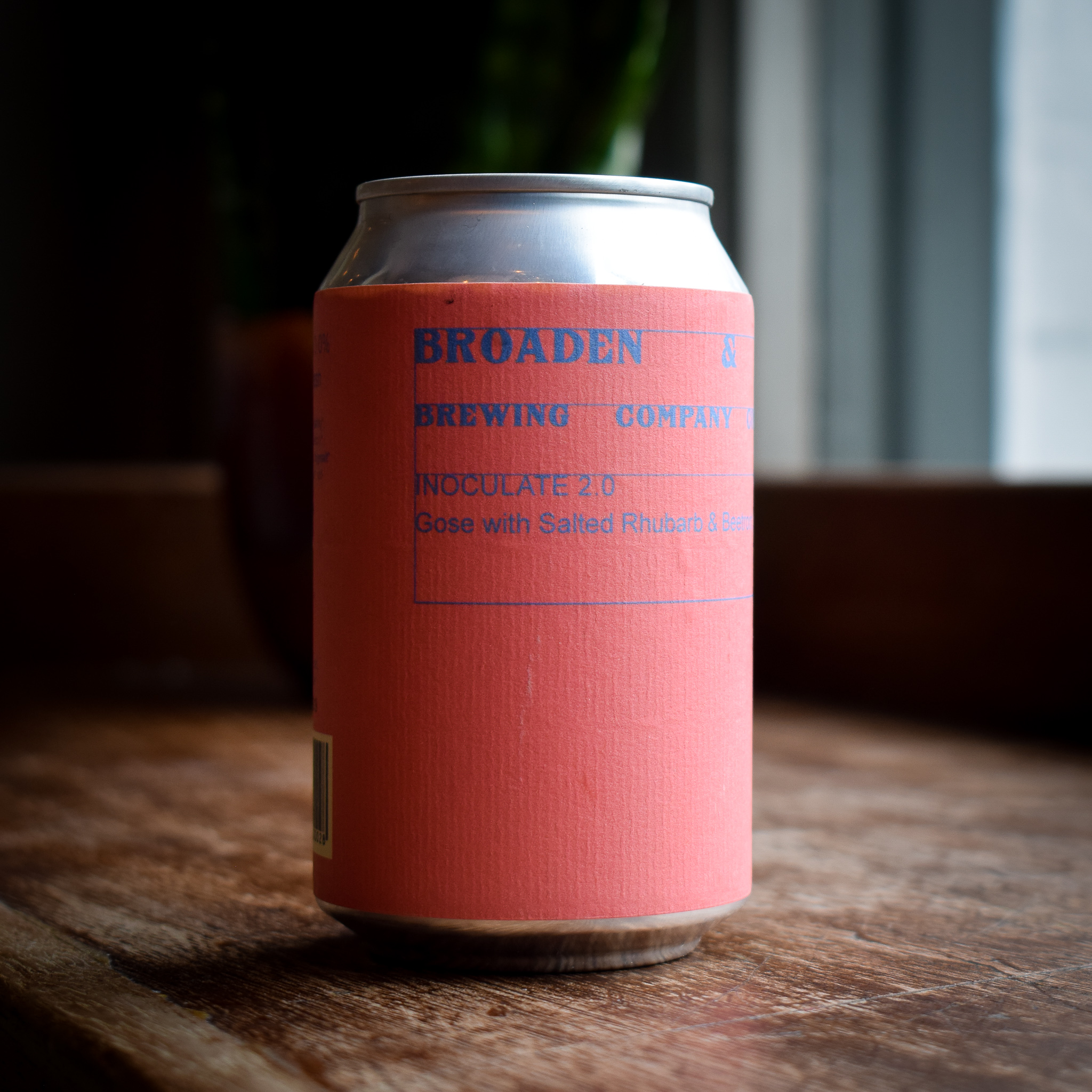 Alex's beer of the month - Broaden & Build 'Inoculate' 3% 330ml canGose with salted rhubarb and beetroot. Earthy, slightly sweet/sour, with the rhubarb pulling it all together. Gose is a very traditional German style of beer – kind of somewhere between a farmhouse ale and a sour beer, with a subtle saltiness (attributed to the water they used to use locally). Super-refreshing and a perfect summer sipper from our friends at Broaden & Build in Copenhagen, brewing beers with zero-waste in mind.