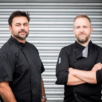 Supplier shout-out - As Tempus Foods, Tom Whitaker and Dhruv Baker have been making charcuterie since 2014. Awarded Overall Champion Producer at the inaugural British Charcuterie Awards 2018, and named Grand Master Charcutier of Great Britain 2019, you'll find their slowly-cured house salami on our British Charcuterie board, served simply with black pepper. Meticulously spiced charcuterie from consistently excellent single-breed pigs and ex-dairy cattle – take our word for it: These guys are the real deal!